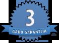 trijų metų garantija